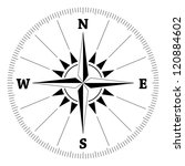 compass wind rose  vector | Shutterstock .eps vector #120884602