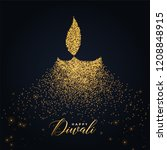 happy diwali diya design made... | Shutterstock .eps vector #1208848915