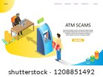 atm scams landing page website... | Shutterstock .eps vector #1208851492