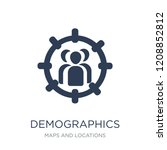 demographics icon. trendy flat...   Shutterstock .eps vector #1208852812