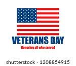 veterans day. 11th of november. ... | Shutterstock .eps vector #1208854915