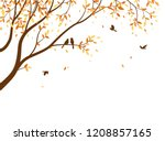 autumn season with falling... | Shutterstock .eps vector #1208857165