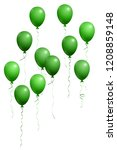 green flying balloons isolated... | Shutterstock .eps vector #1208859148