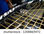 tennis racket restringing   Shutterstock . vector #1208865472