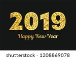 2019 hand written lettering... | Shutterstock . vector #1208869078
