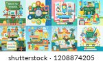 vector collection of flat... | Shutterstock .eps vector #1208874205