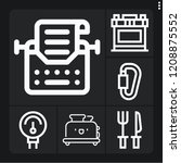 set of 6 metal outline icons... | Shutterstock .eps vector #1208875552