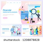 financial statements analysis ... | Shutterstock .eps vector #1208878828