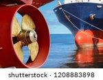 Propeller Of Cargo Ship Rudder...