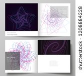 vector layout of two covers...   Shutterstock .eps vector #1208884228