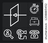 set of 6 button outline icons... | Shutterstock .eps vector #1208885452