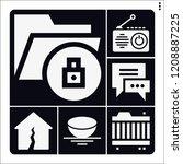 set of 6 technology filled...   Shutterstock .eps vector #1208887225