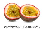 passion fruit isolated on white ... | Shutterstock . vector #1208888242