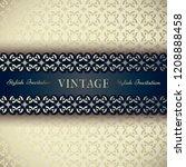 vintage border on elegant... | Shutterstock .eps vector #1208888458