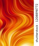 vector illustration  fire flame ... | Shutterstock .eps vector #1208898772