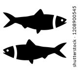 a domestic water animal  fishes  | Shutterstock .eps vector #1208900545