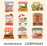 set of vector flat design... | Shutterstock .eps vector #1208903665