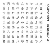school icon set. collection of... | Shutterstock .eps vector #1208903908