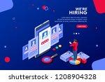 social presentation for... | Shutterstock .eps vector #1208904328