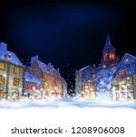 cristmas background.  fabulous... | Shutterstock .eps vector #1208906008