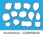 vector bubbles speech set. hand ...   Shutterstock .eps vector #1208908618