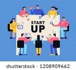 flat design style vector... | Shutterstock .eps vector #1208909662