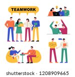 people character who work... | Shutterstock .eps vector #1208909665