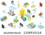 power grid infographic ... | Shutterstock .eps vector #1208910118