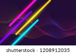 abstract vector design with... | Shutterstock .eps vector #1208912035