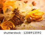 christmas concept with bunch of ... | Shutterstock . vector #1208913592