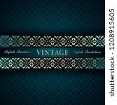 vintage card  classic design... | Shutterstock .eps vector #1208915605