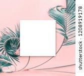 white papar blank brochure mock ... | Shutterstock . vector #1208919178
