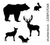 vector silhouette of wild...   Shutterstock .eps vector #1208919268