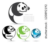 panda badge   vector... | Shutterstock .eps vector #120892192