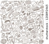 cookery   doodles collection | Shutterstock .eps vector #120892465