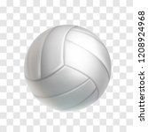 Realistic White Volleyball Bal...