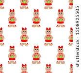 gingerbread man seamless... | Shutterstock .eps vector #1208925505