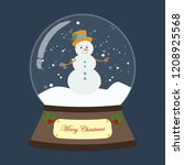 christmas snow globe with... | Shutterstock .eps vector #1208925568