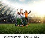 winning football player... | Shutterstock . vector #1208926672