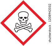 skull danger sign | Shutterstock .eps vector #1208942032