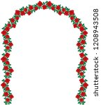 arch of red roses vector... | Shutterstock .eps vector #1208943508