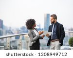 a portrait of two... | Shutterstock . vector #1208949712