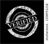 verified chalk emblem written... | Shutterstock .eps vector #1208951218