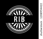 rib premium quality badge.... | Shutterstock .eps vector #1208954422
