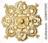 3d rendering beautiful golden...   Shutterstock . vector #1208957095
