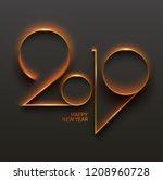 new year 2019.  design greeting ...   Shutterstock .eps vector #1208960728