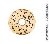 donut with glaze and chocolate...   Shutterstock .eps vector #1208963308