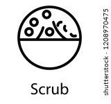 exfoliating scrub icon design | Shutterstock .eps vector #1208970475