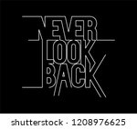 never look back minimal active... | Shutterstock .eps vector #1208976625