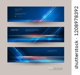 abstract banners set with image ... | Shutterstock .eps vector #1208978392